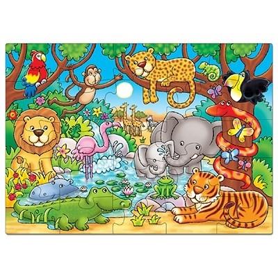 Puzzle cu activitati Cine este in jungla? WHO'S IN THE JUNGLE? 1