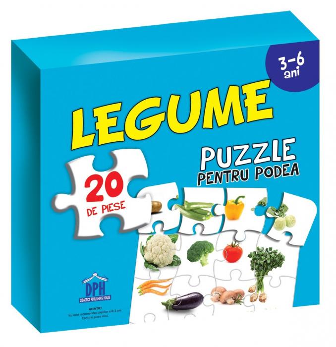 Puzzle educativ cu afis LEGUME( puzzle podea 50/70 + afis 50/70 ) 0