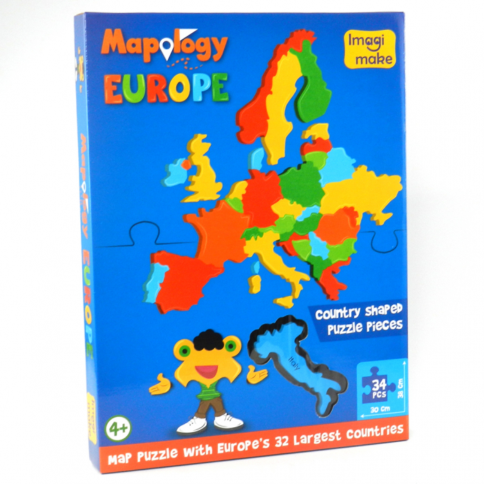 Pachet Puzzle educativ din spuma: Harta Lumii + Harta Europei - Imagimake 2