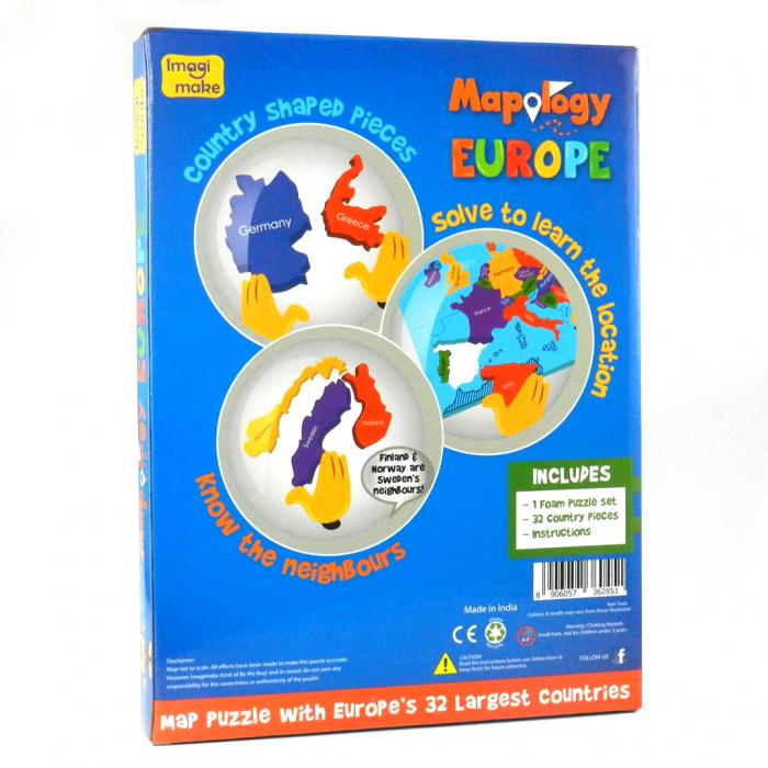 Pachet Puzzle educativ din spuma: Harta Lumii + Harta Europei - Imagimake 4