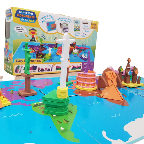 Puzzle educativ Harta lumii - Monumente - din spuma Eva 3