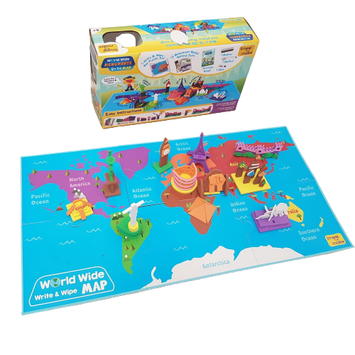 Puzzle educativ Harta lumii - Monumente - din spuma Eva 2