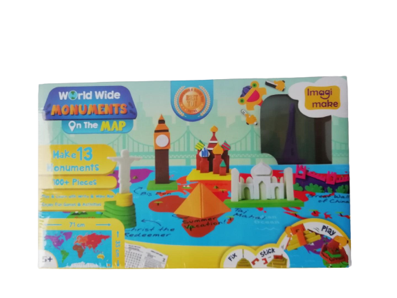 Puzzle educativ Harta lumii - Monumente - din spuma Eva 4