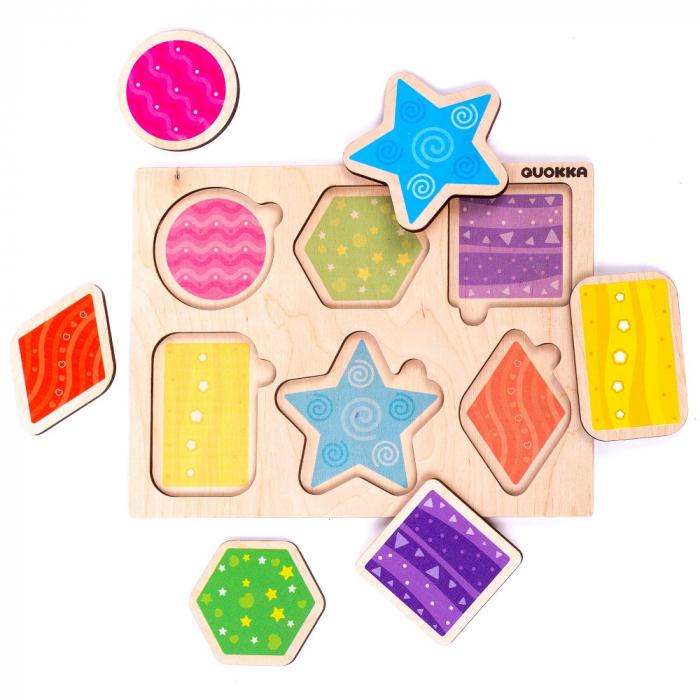 Puzzle Forme geometrice - jucarie educativa Quokka 0