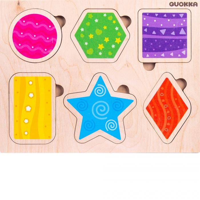 Puzzle Forme geometrice - jucarie educativa Quokka 1