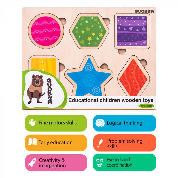 Puzzle Forme geometrice - jucarie educativa Quokka 2