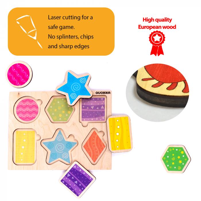 Puzzle Forme geometrice - jucarie educativa Quokka 4