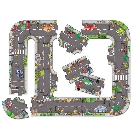 Puzzle gigant de podea traseu masini (20 piese) GIANT ROAD JIGSAW 1