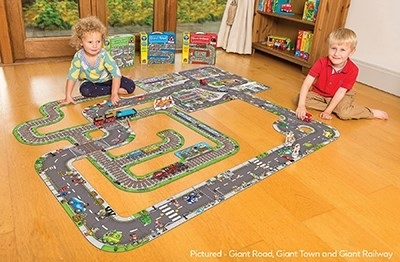 Puzzle gigant de podea traseu masini (20 piese) GIANT ROAD JIGSAW 2