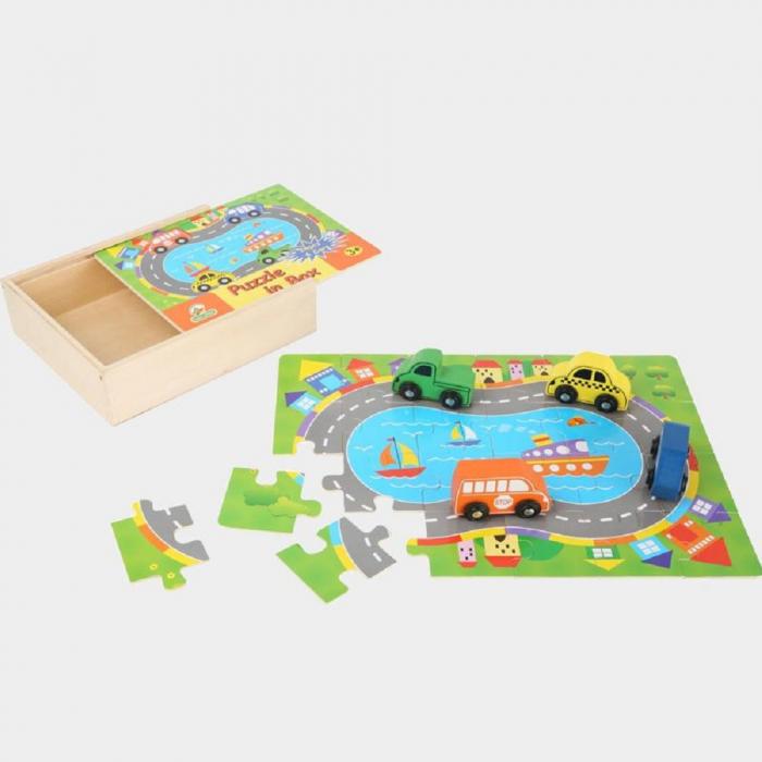 Puzzle lemn Masini - Legler 0