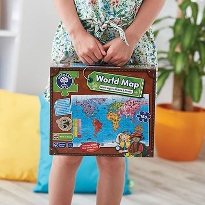 Puzzle si poster Harta lumii (limba engleza 150 piese) WORLD MAP PUZZLE & POSTER 10