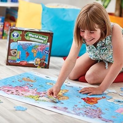 Puzzle si poster Harta lumii (limba engleza 150 piese) WORLD MAP PUZZLE & POSTER 7