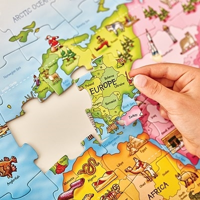 Puzzle si poster Harta lumii (limba engleza 150 piese) WORLD MAP PUZZLE & POSTER 9