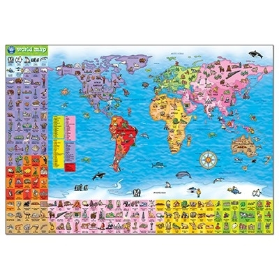 Puzzle si poster Harta lumii (limba engleza 150 piese) WORLD MAP PUZZLE & POSTER 4