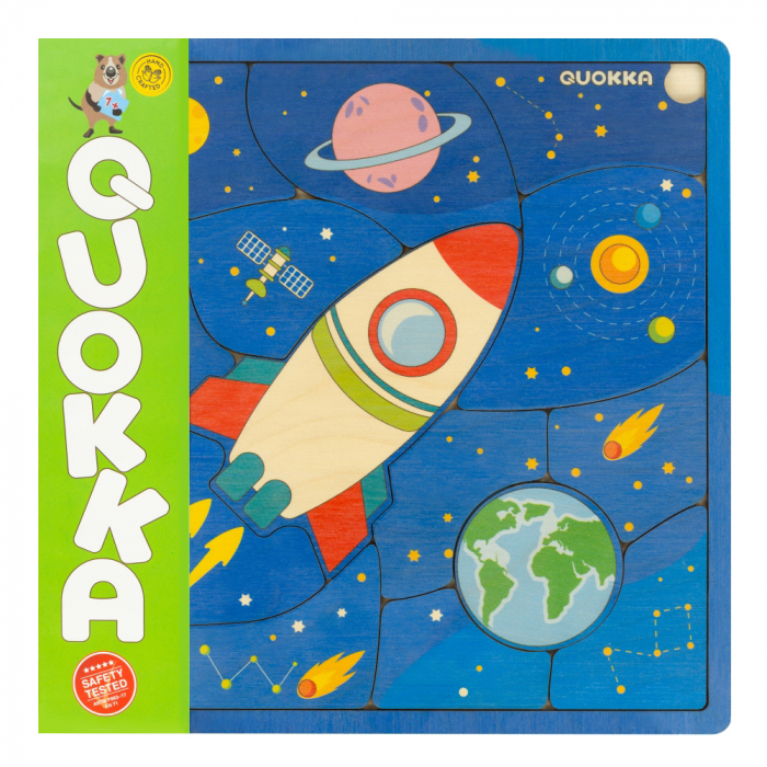 "Puzzle ""Spatiul"" - jucarie educativa Quokka 0"