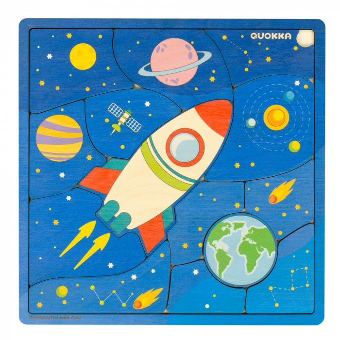 "Puzzle ""Spatiul"" - jucarie educativa Quokka 2"