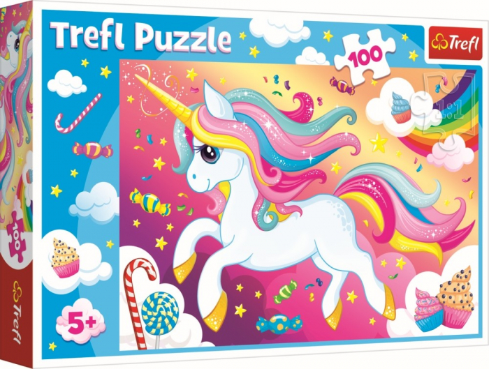 Puzzle Trefl 100 Frumosul unicorn [0]