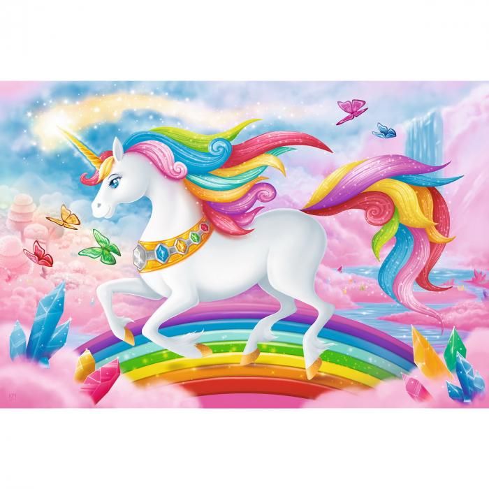 Puzzle Trefl 100 Lumea de cristal a unicornilor [1]