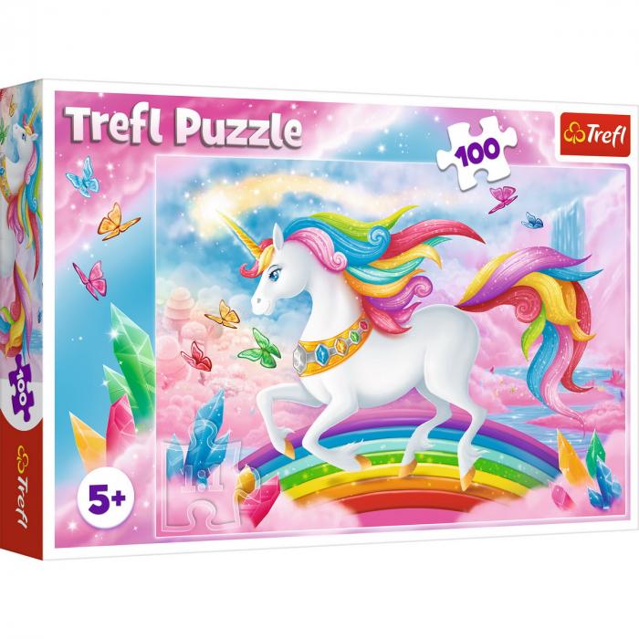 Puzzle Trefl 100 Lumea de cristal a unicornilor [0]