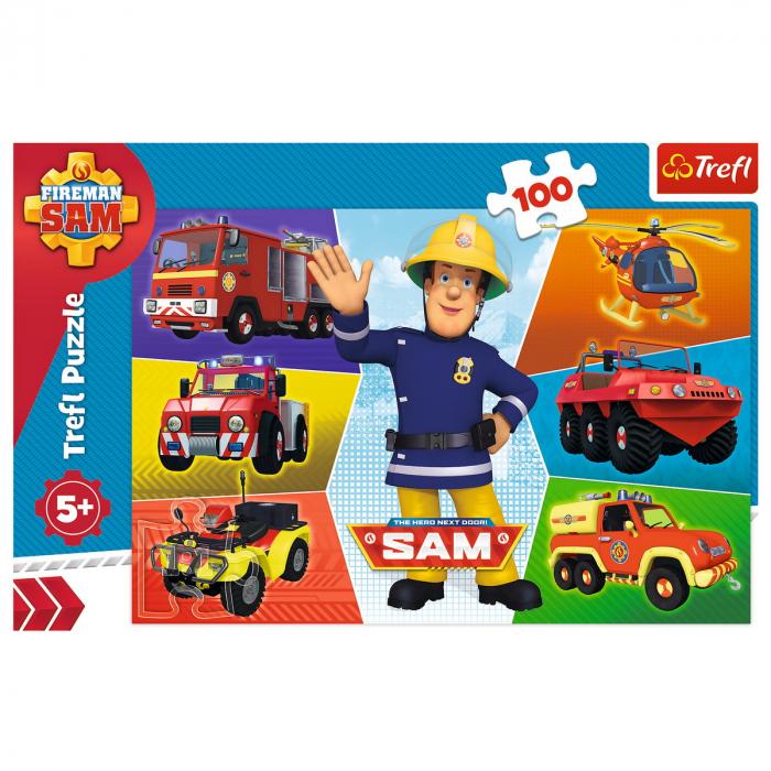 Puzzle Trefl 100 Masinile pompierului Sam [2]