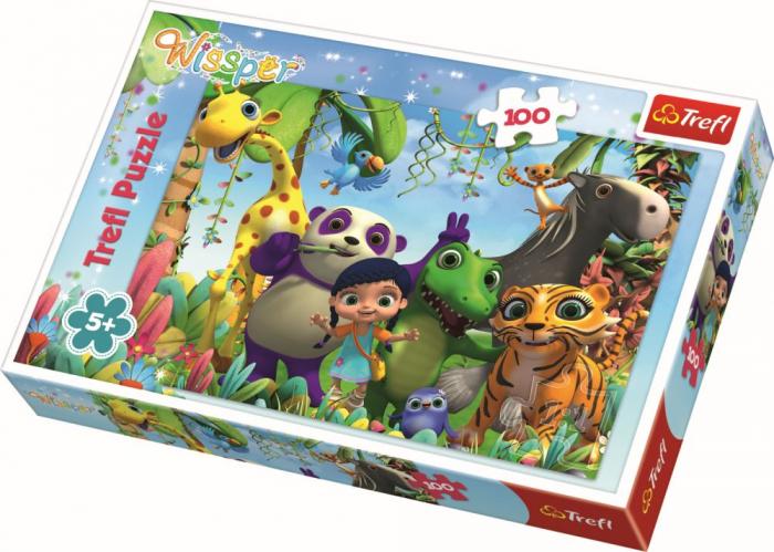 Puzzle Trefl 100 soapte si prieteni [0]