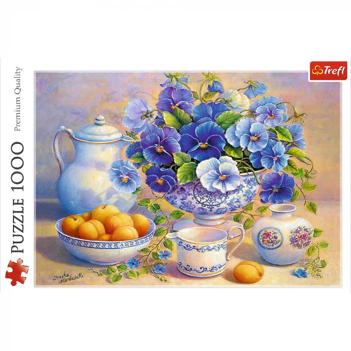 Puzzle Trefl 1000 buchet albastru [2]
