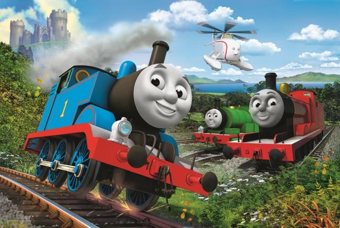 Puzzle Trefl 15 maxi Thomas locomotive in viteza [1]