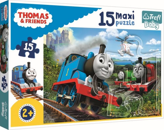 Puzzle Trefl 15 maxi Thomas locomotive in viteza [0]