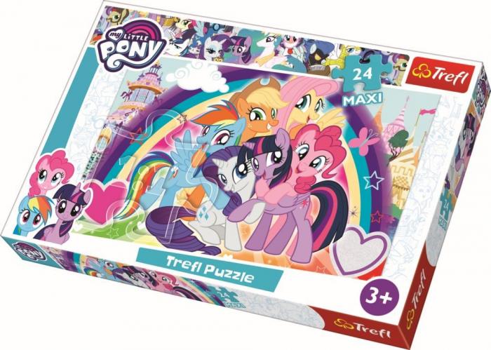 Puzzle Trefl 24 maxi Ponei fericiti [0]