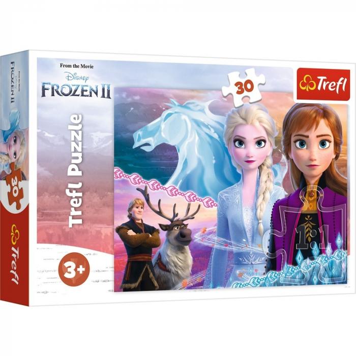 Puzzle Trefl 30 Frozen 2 curajoasele surori [0]