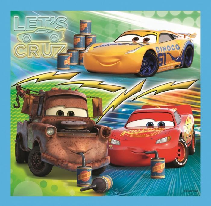 Puzzle Trefl 3in1 Cars pregatiri pentru cursa [3]