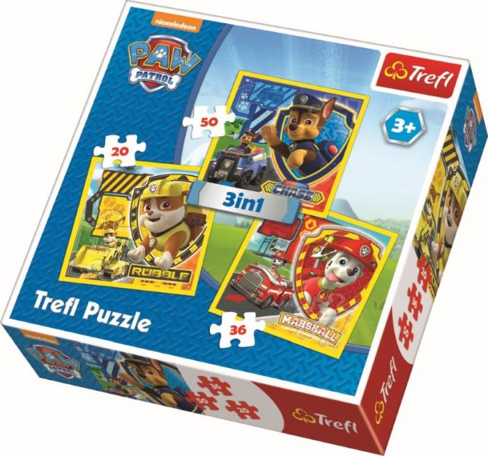 Puzzle Trefl 3in1 Eroii Catelusi [0]