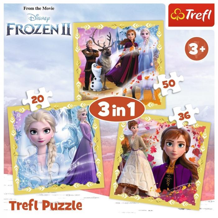 PUZZLE TREFL 3IN1 FROZEN2 ANA SI ELSA [4]