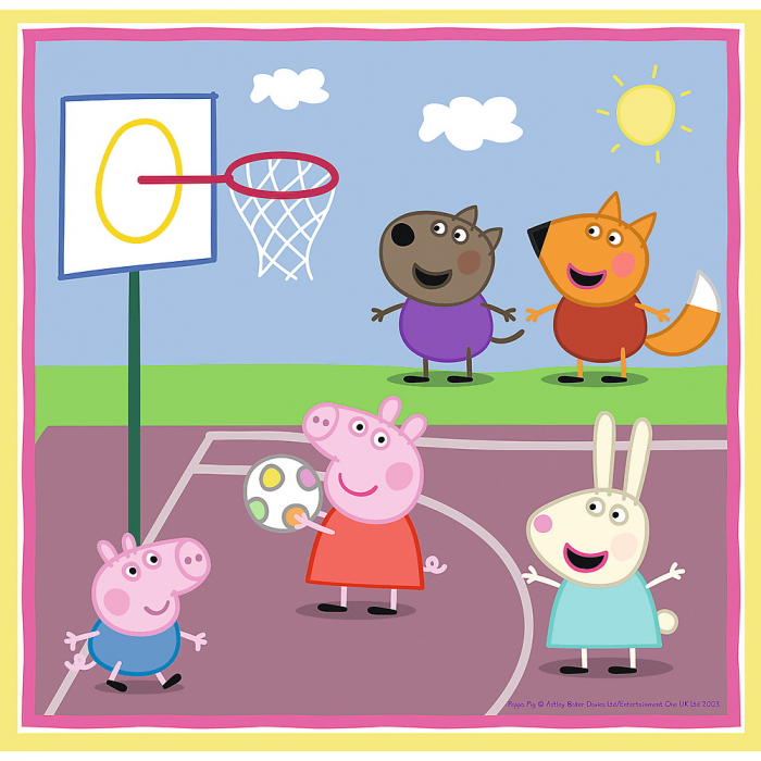 Puzzle Trefl 3in1 Peppa Pig activitati scolare [1]