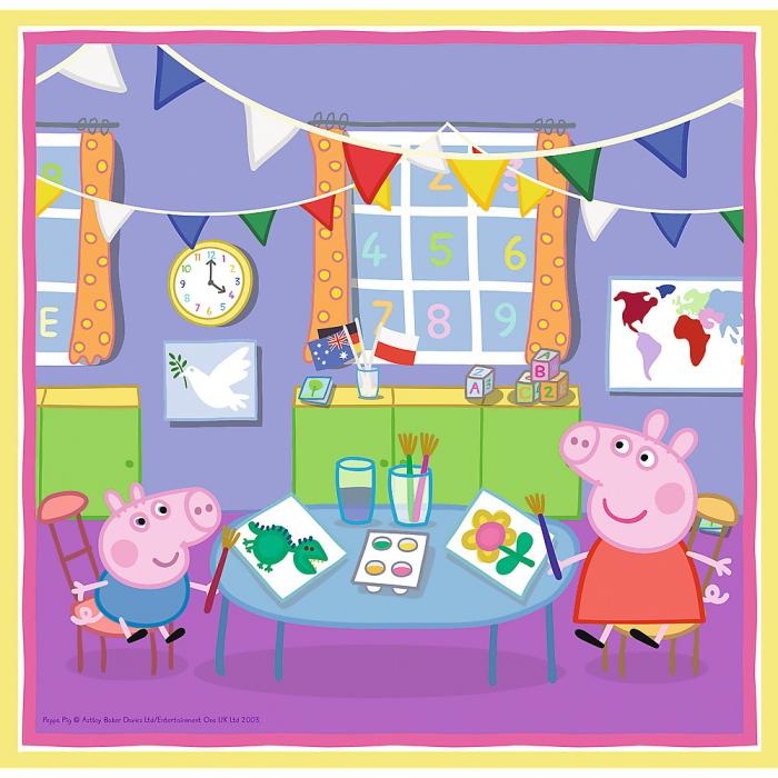 Puzzle Trefl 3in1 Peppa Pig activitati scolare [3]