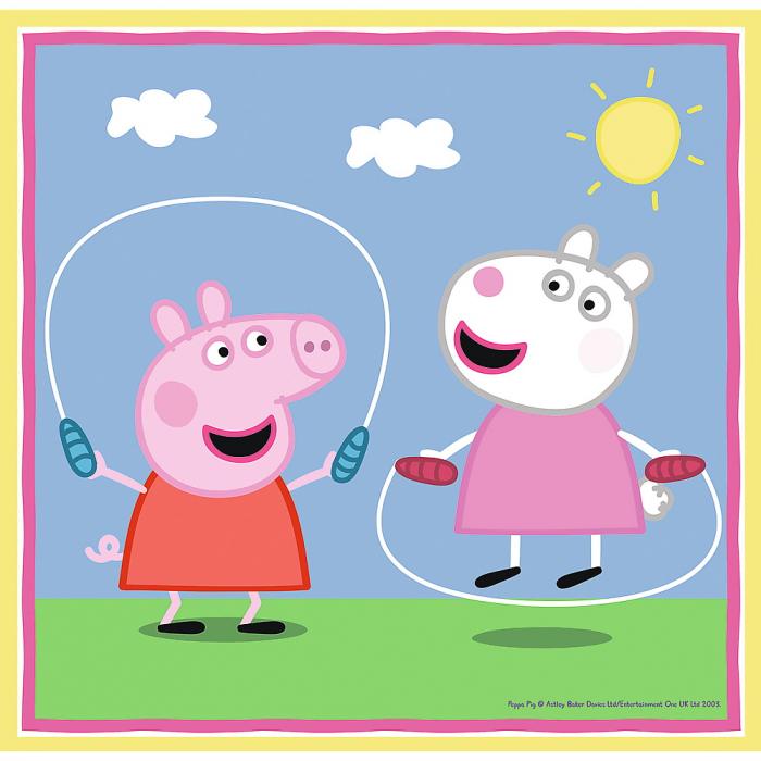 Puzzle Trefl 3in1 Peppa Pig activitati scolare [2]