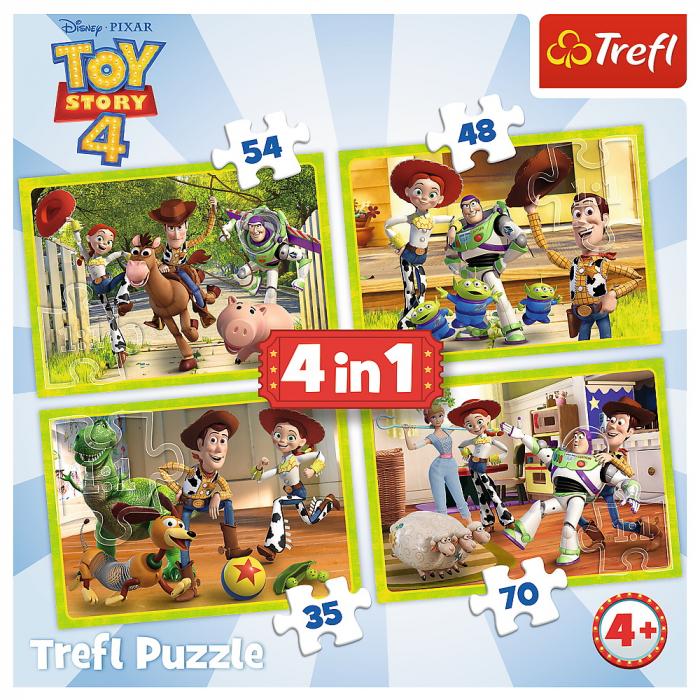 Puzzle Trefl 4in1 eroii ToyStory4 in actiune [5]