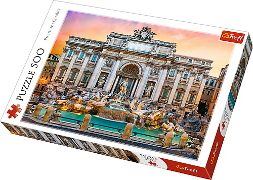 Puzzle Trefl 500 Fontanna di Trevi Roma [0]