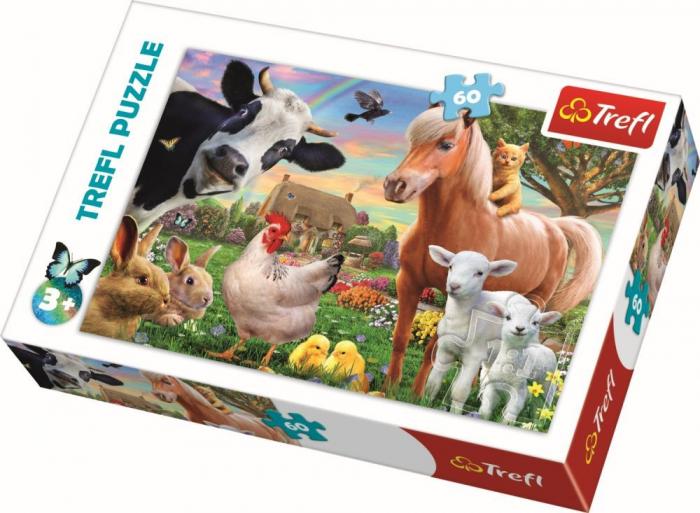 Puzzle trefl 60 ferma fericita [0]