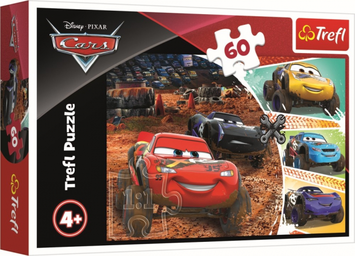 Puzzle Trefl 60 Fulger MCQueen cu prietenii [0]