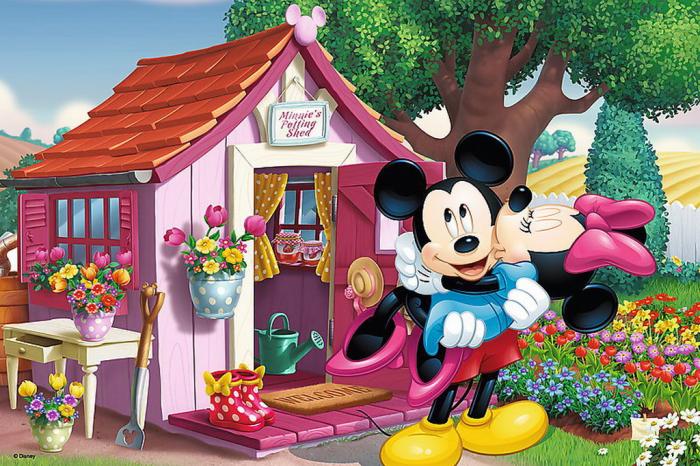 Puzzle Trefl 60 Mickey si Minnie in gradina [1]