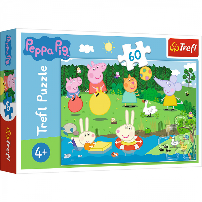 Puzzle Trefl 60 Peppa Pig Distractie in vacanta [0]