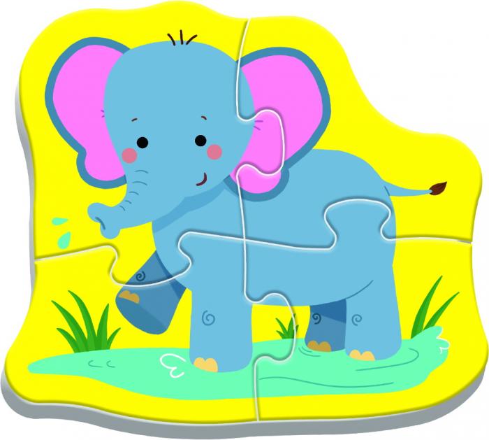 PUZZLE TREFL BABY CLASIC ANIMALE SAFARI [4]