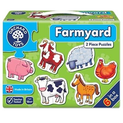 Set 6 puzzle Ferma (2 piese) FARMYARD 2