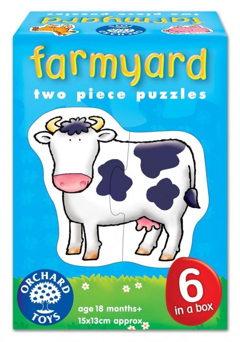 Set 6 puzzle Ferma (2 piese) FARMYARD 0