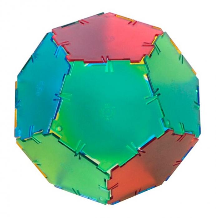 Set constructii Polydron Translucent 24 pentagoane 0