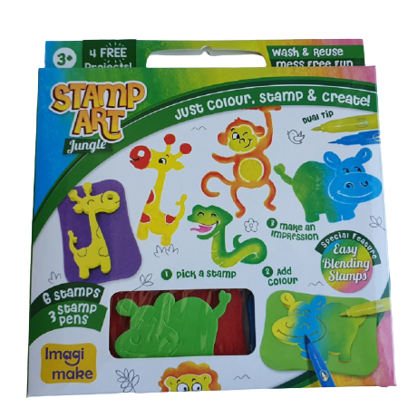 Set creativ cu stampile - Jungle 0
