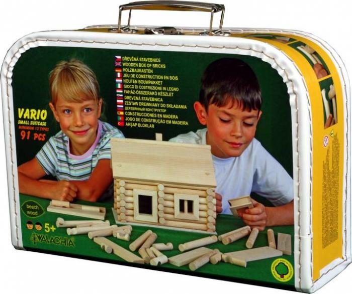 Set de construit Vario caseta 91 piese – joc educativ Walachia 0