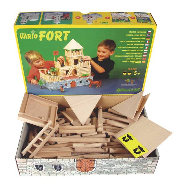 Set de construit Vario Fort – joc educativ Walachia 5