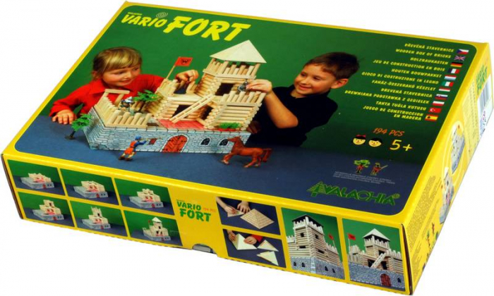 Set de construit Vario Fort – joc educativ Walachia 8